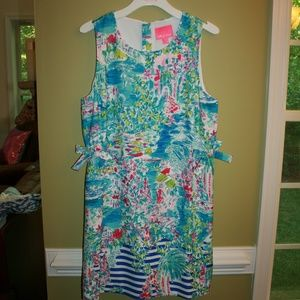 LILLY PULITZER MARLI STRECTH SHIFT DRESS POSTCARDS